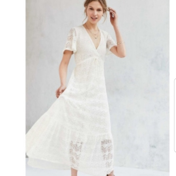 0ad8b810195 Beauty💜Urban Outfitters Ivory Lace Maxi Dress NWT